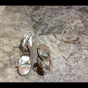 Apart Impressions Tan Leather Heeled Sandals 9 1/2